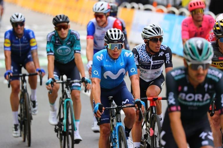 Miguel Ángel López, corredor del Movistar Team, está preinscrito en la Clásica San Sebastián, antes de competir de La Vuelta a España 2021