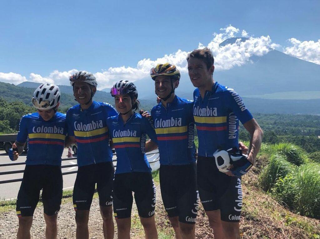 La Selección Colombia de ciclismo que participó en la prueba de ciclismo en ruta durante los Juegos Olímpicos Tokio 2020