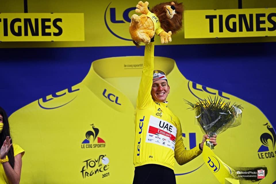 El ciclista Tadej Pogacar es el actual líder del Tour de Francia 2021