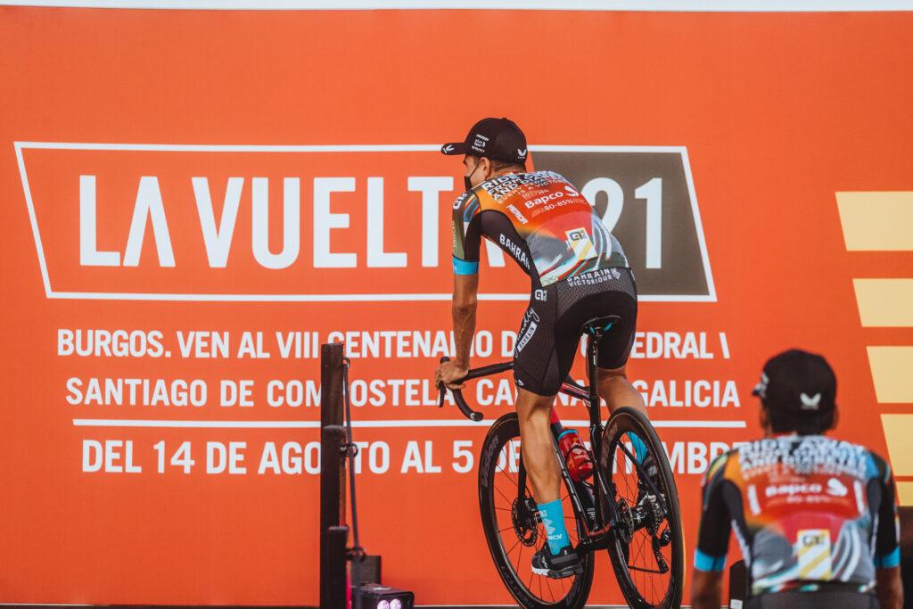 Mikel en la presentación de La Vuelta 2021
