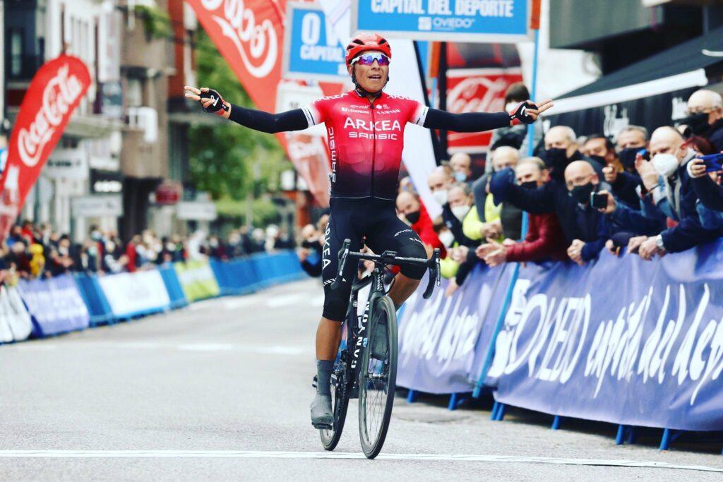 Nairo ganando en Asturias