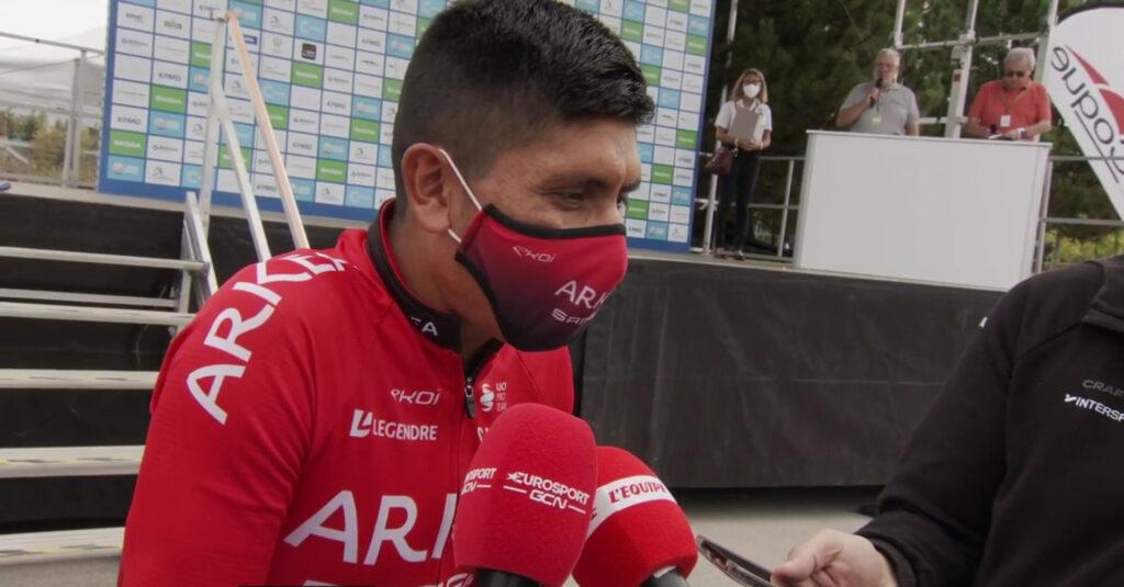 Nairo Quintana entrevistando