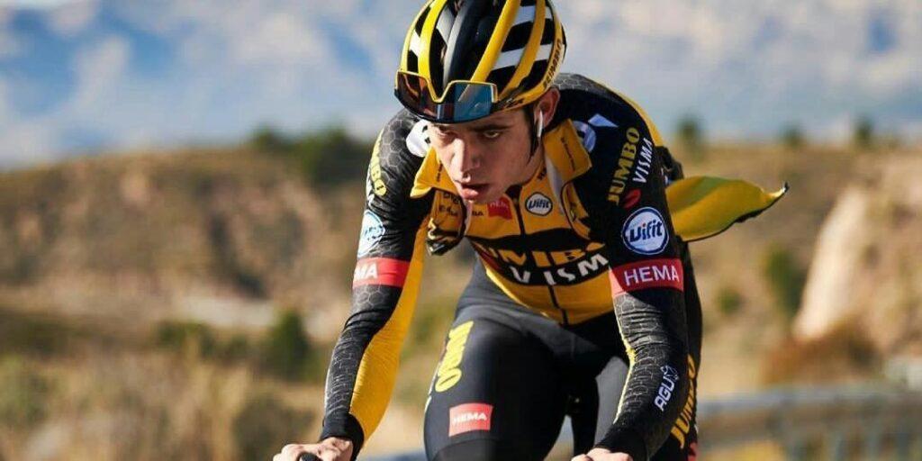 caída Wout Van Aert etapa 5 Tour Bretaña 2021