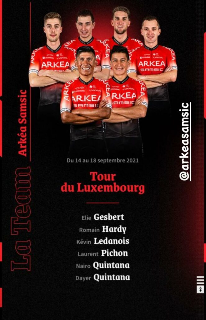 Nairo Quintana equipo Arkea Tour de Luxemburgo 2021