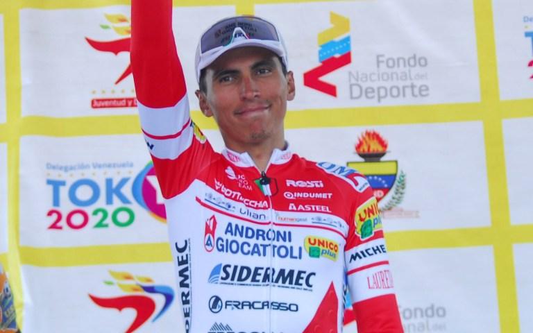 Jhonatan Pácora Restrepo y su molestia en medio del Giro del Veneto 2021