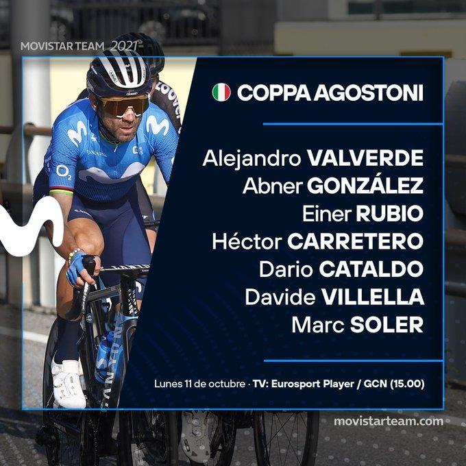 Movistar Team revela su equipo para la Coppa Agostoni 2021