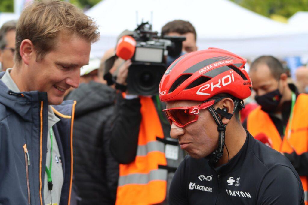 Nairo Quintana con Andy Schleck