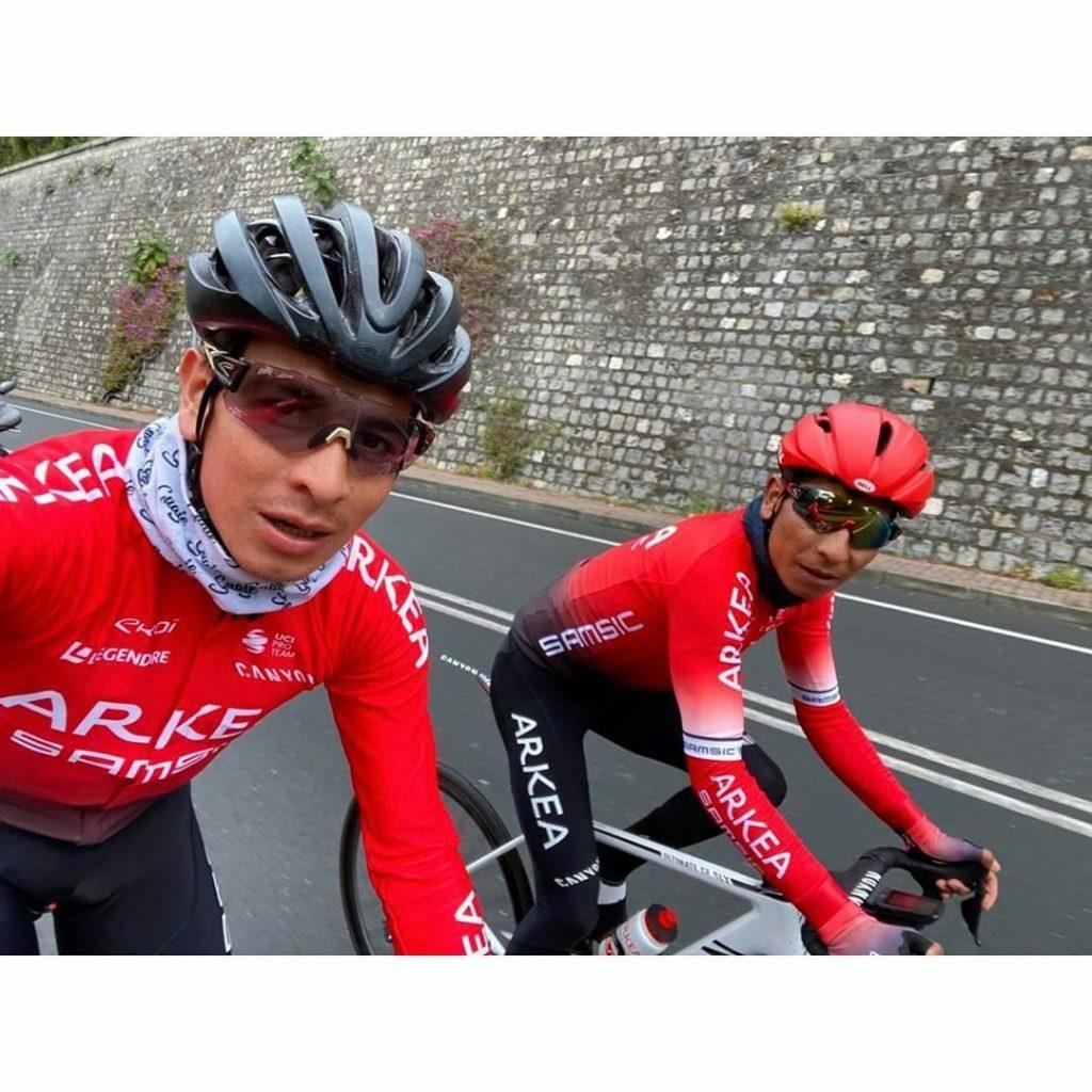 Nairo y Dayer entrenándose en Europa
