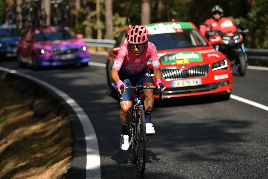 Nairo Quintana y Sergio Higuita, sprint con el que definieron el top 10 del Giro de Lombardía 2021