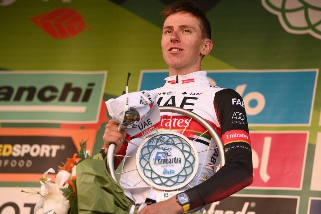 Tadej Pogacar y el récord que logra tras su victoria en el Giro de Lombardía 2021