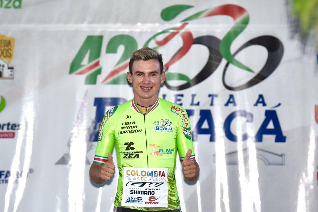Vuelta a Boyacá 2021, Jeison Casallas gana la etapa 1 y es líder de la general